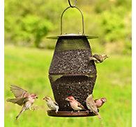 NO/NO® Lantern Bronze Wild Bird Feeder