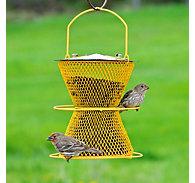 NO/NO® Designer Double With Perch Ring Wild Bird Feeder