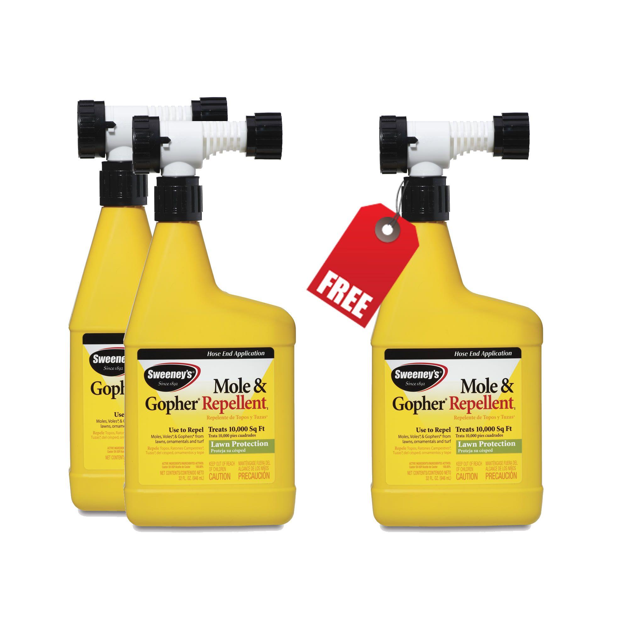 Sweeney's® Mole & Gopher Repellent Yard Spray