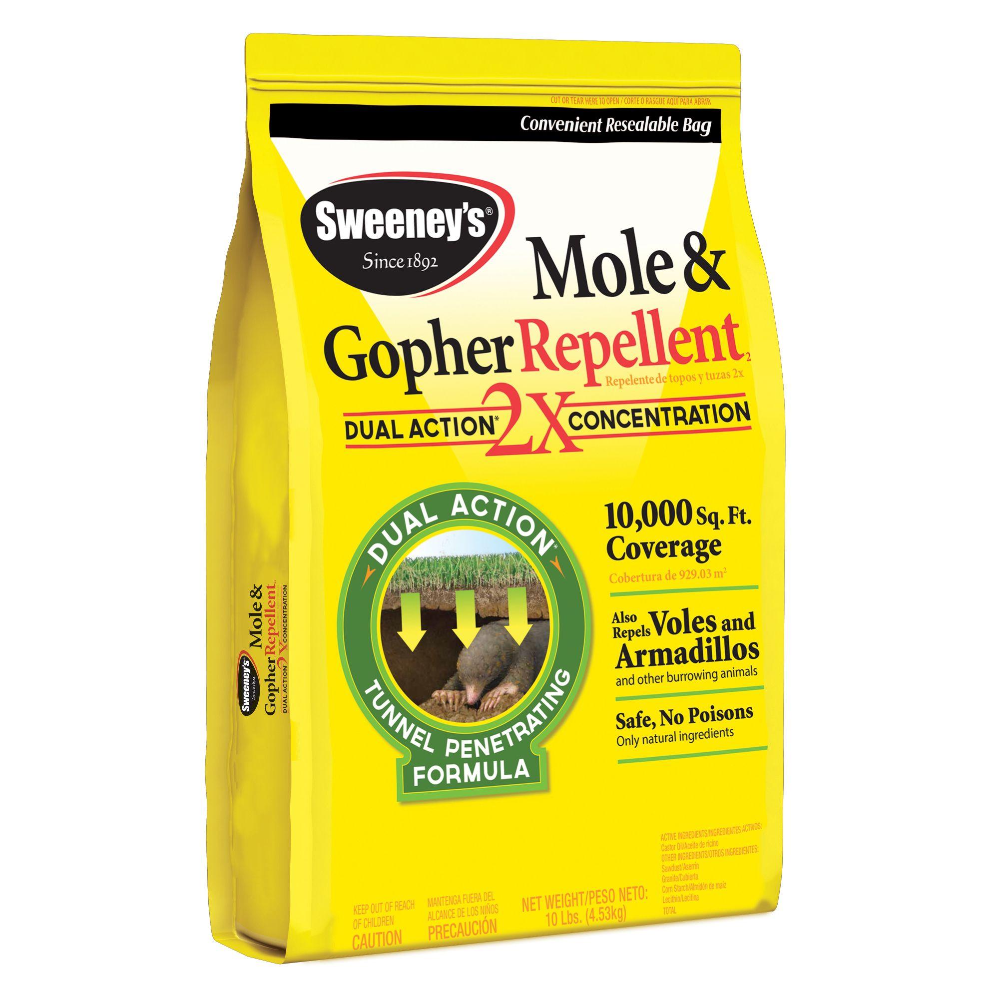 sweeney u0027s mole u0026 gopher repellent castor oil granular