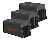 Victor® Electronic Rat Trap - FREE Batteries - 3 Traps