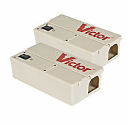Victor® Electronic Mouse Trap PRO - FREE Batteries - 2 Traps
