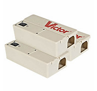 Victor® Electronic Mouse Trap PRO - FREE Batteries - 3 Traps