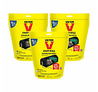 Victor® Fast-Kill® Refillable Bait Station with 20 Bait Refills - 3 Pack