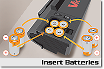 Step 1: Insert Batteries