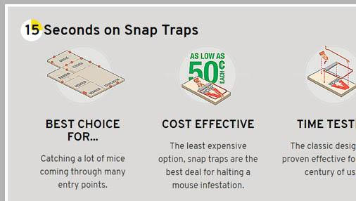 One Minute Guide to Mouse Traps