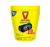 Victor® Fast-Kill® Refillable Bait Station with 20 Bait Refills - 10 Pack