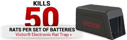 Kills 50 Rats Per Set Of Batteries Victor Electronic Rat Trap
