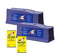 Rat Zapper® Classic Rat Trap - 2 Traps + 2 FREE Rat Packs
