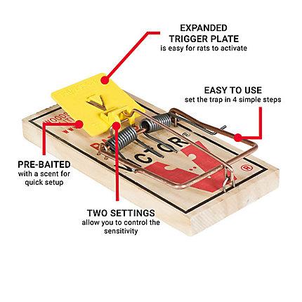 Victor® Easy Set® Rat Trap - 180 Traps | Model BM326-180