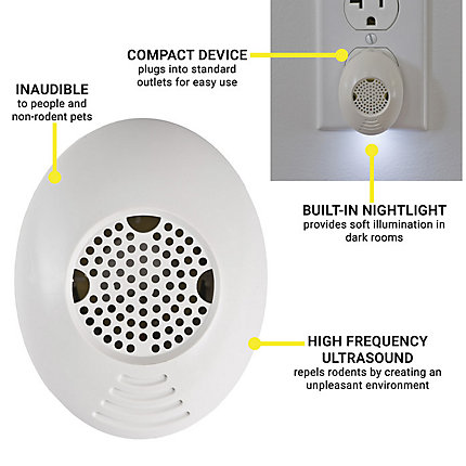 Victor® Mini Pestchaser Ultrasonic with Nightlight | M753SN