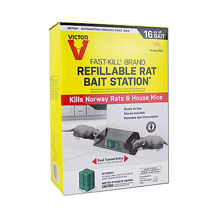 Victor® Fast-Kill® Brand Refillable Rat Bait Station | #M930
