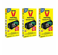 Victor® Fast-Kill® Disposable Bait Stations - 3 Pack