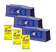 Rat Zapper® Classic Rat Trap - 3 Traps + 3 FREE Rat Packs