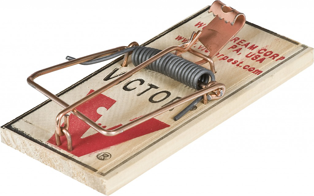 Victor Easy Set Mouse Traps work without having to bait the trap.